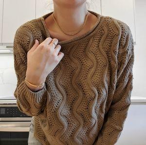 Aritzia Talula oversize knit sweater